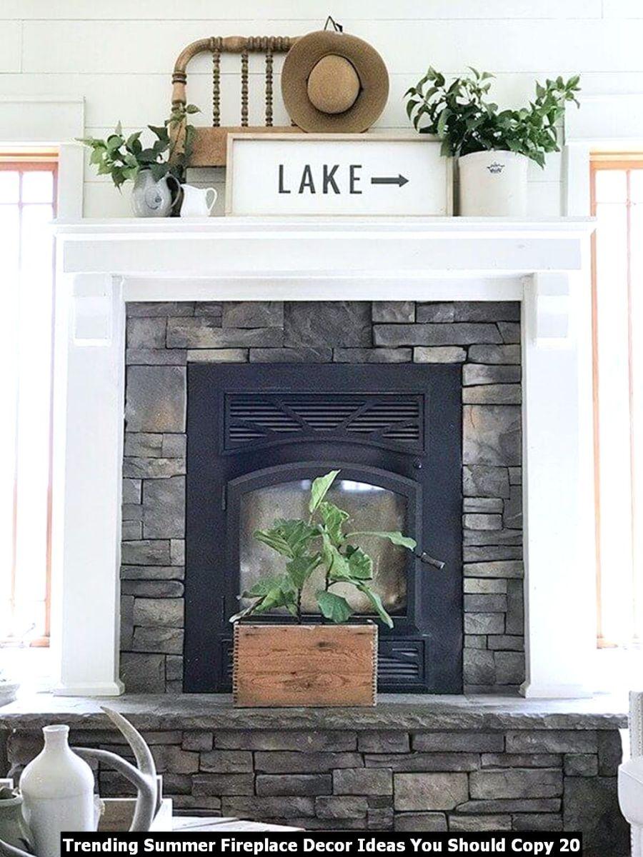 Trending Summer Fireplace Decor Ideas You Should Copy 20