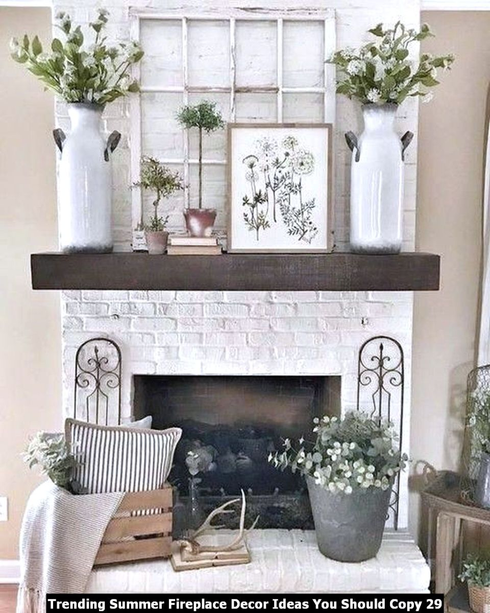 Trending Summer Fireplace Decor Ideas You Should Copy 29