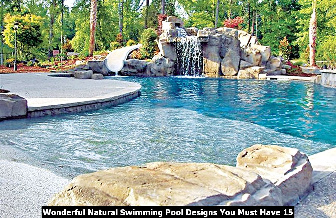 Wonderful Natural Swimming Pool Designs You Must Have 15