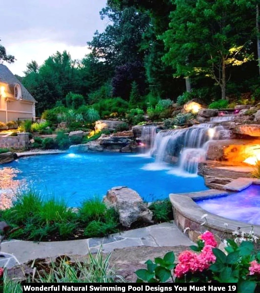 Wonderful Natural Swimming Pool Designs You Must Have 19