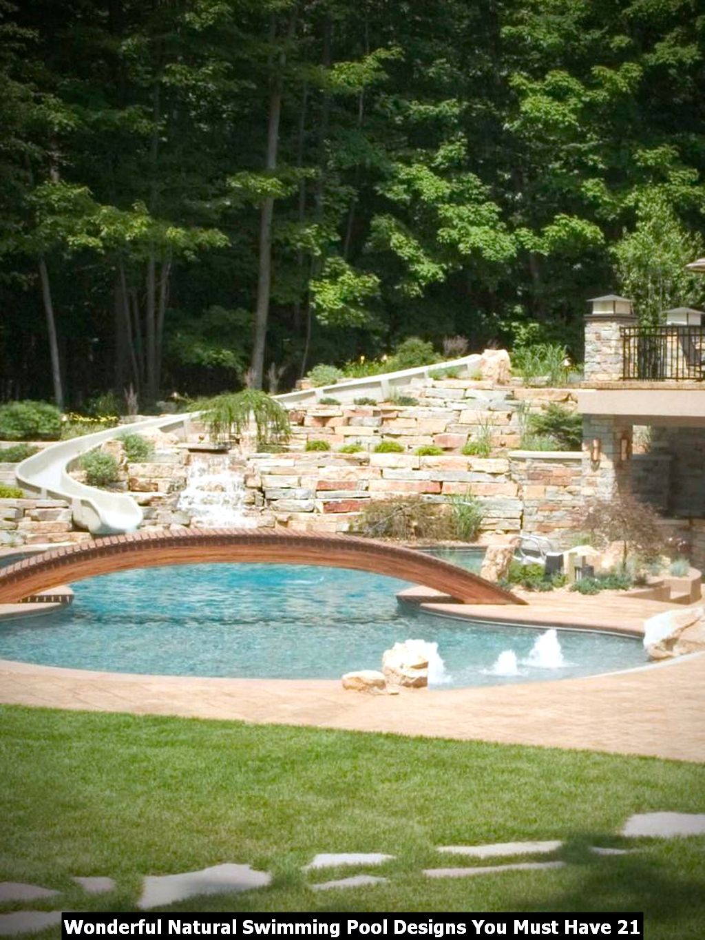 Wonderful Natural Swimming Pool Designs You Must Have 21