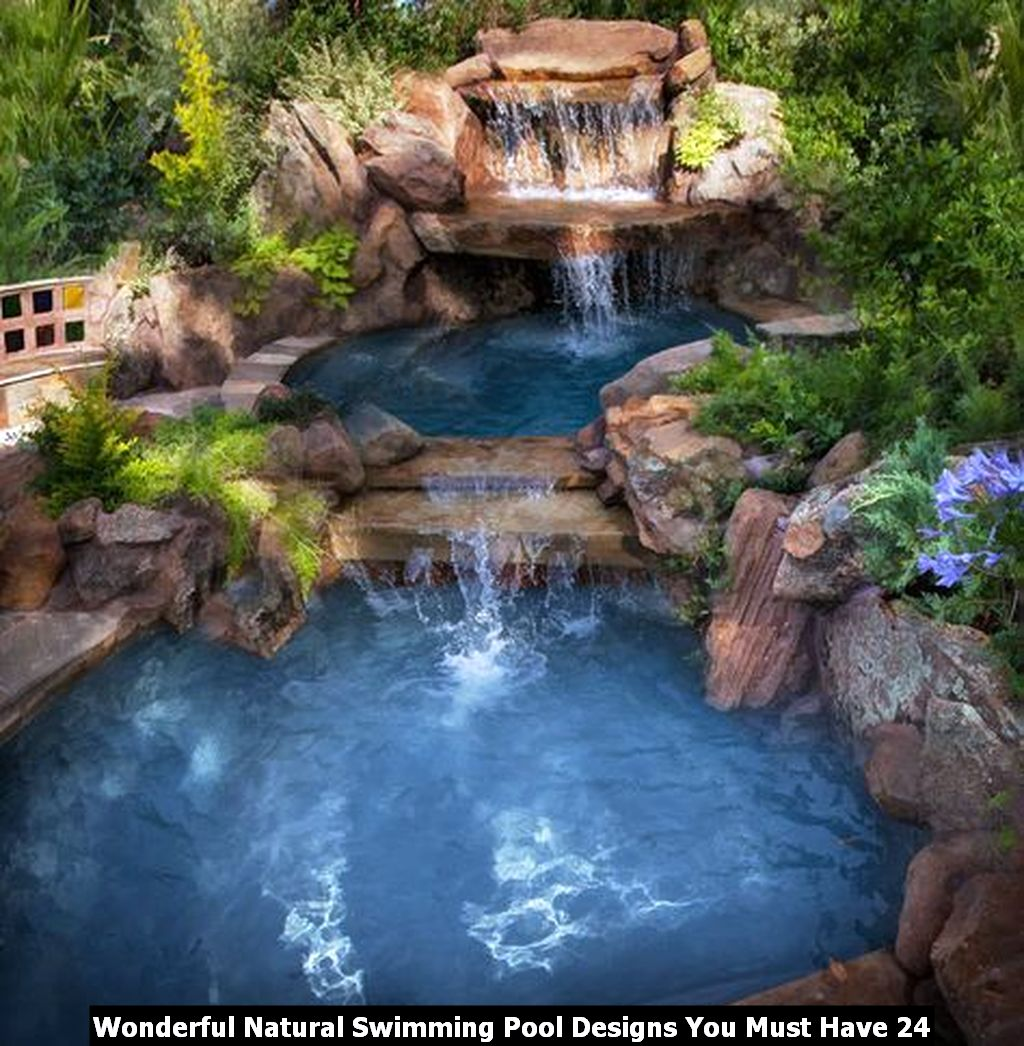 Wonderful Natural Swimming Pool Designs You Must Have 24