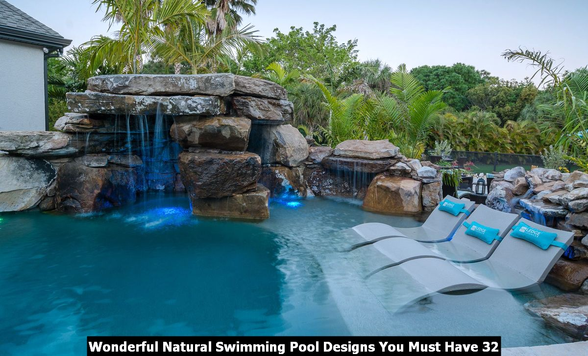 Wonderful Natural Swimming Pool Designs You Must Have 32