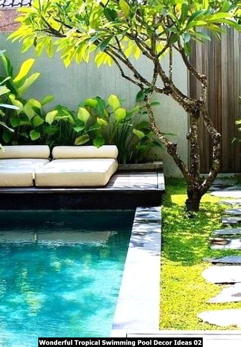 Wonderful Tropical Swimming Pool Decor Ideas 02