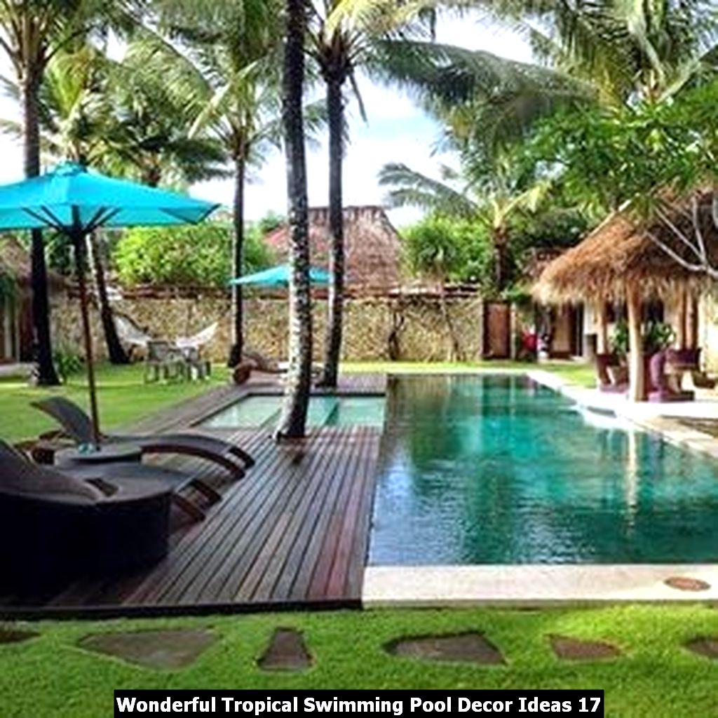 Wonderful Tropical Swimming Pool Decor Ideas 17