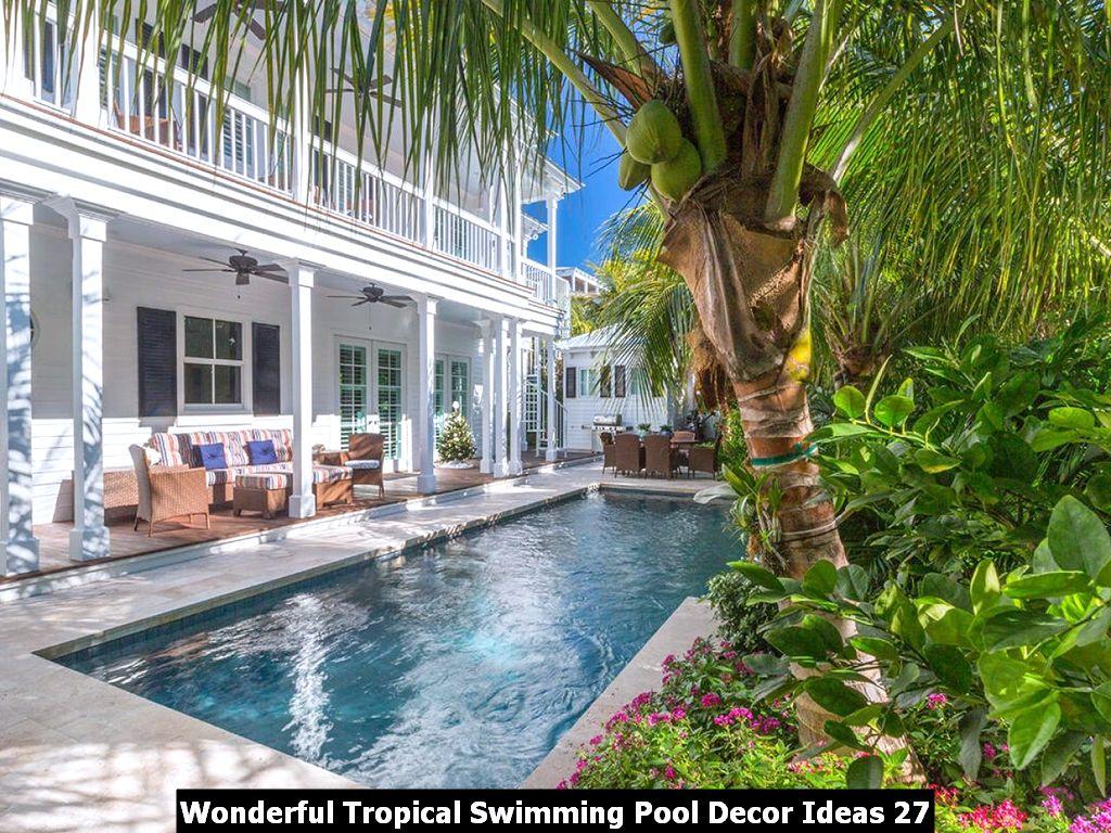 Wonderful Tropical Swimming Pool Decor Ideas 27