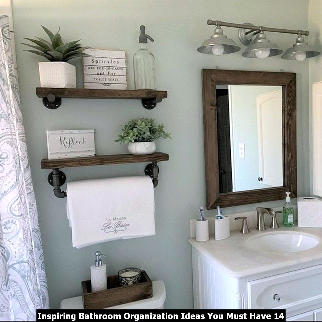 Inspiring Bathroom Organization Ideas You Must Have 14