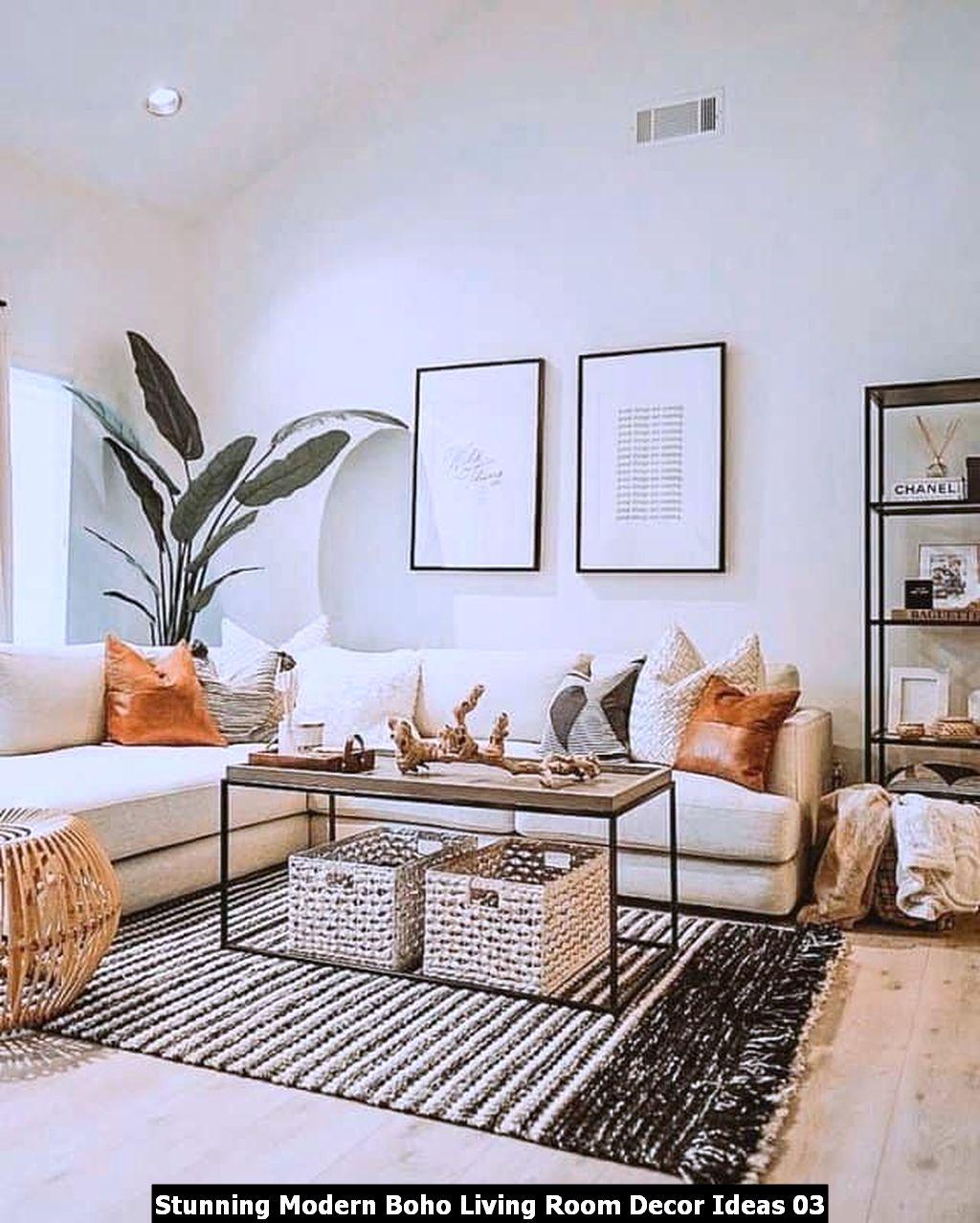 Stunning Modern Boho Living Room Decor Ideas 03