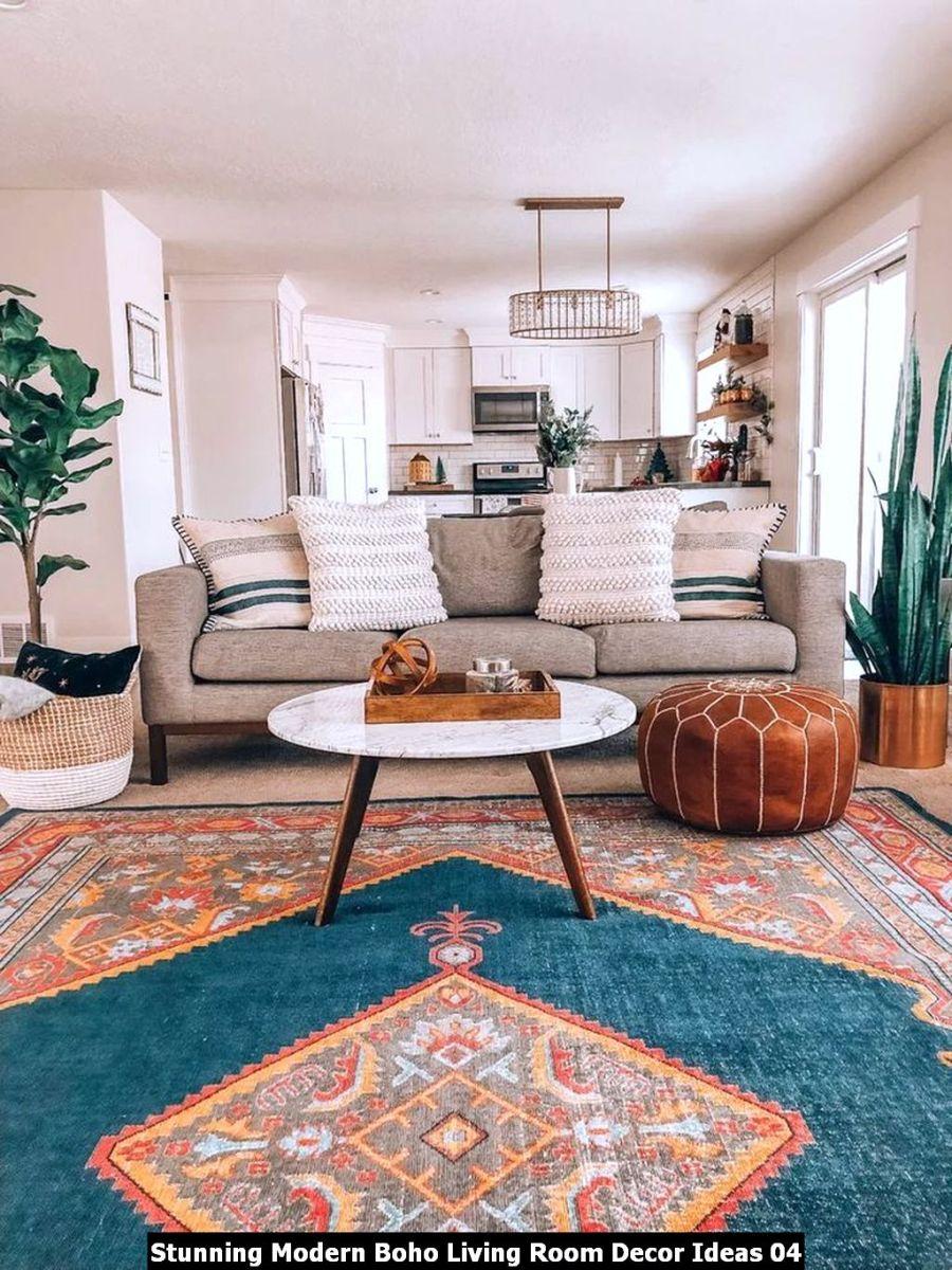 Stunning Modern Boho Living Room Decor Ideas 04
