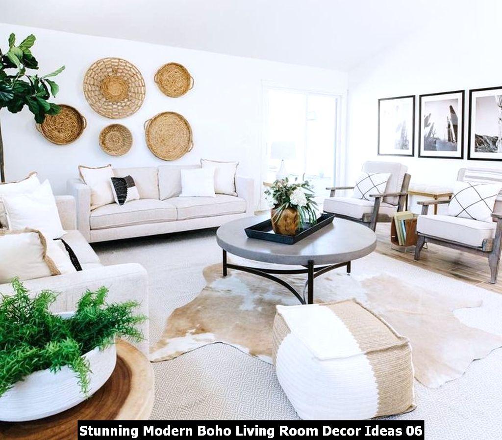 Stunning Modern Boho Living Room Decor Ideas 06