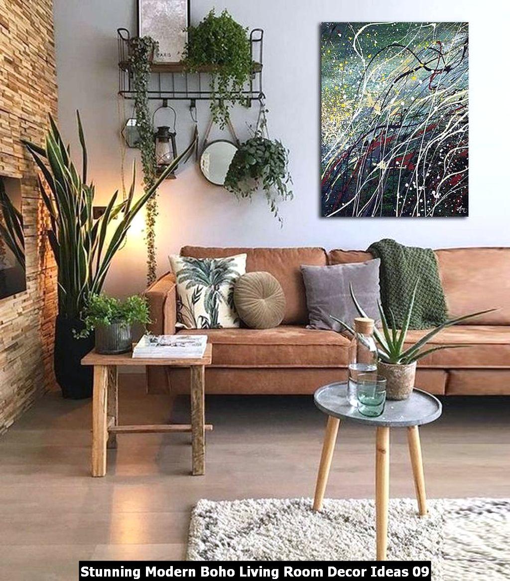 Stunning Modern Boho Living Room Decor Ideas 09
