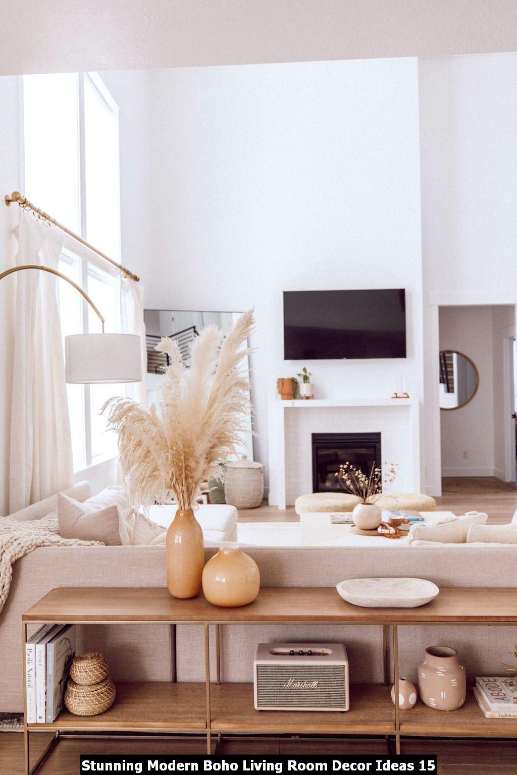 Stunning Modern Boho Living Room Decor Ideas 15