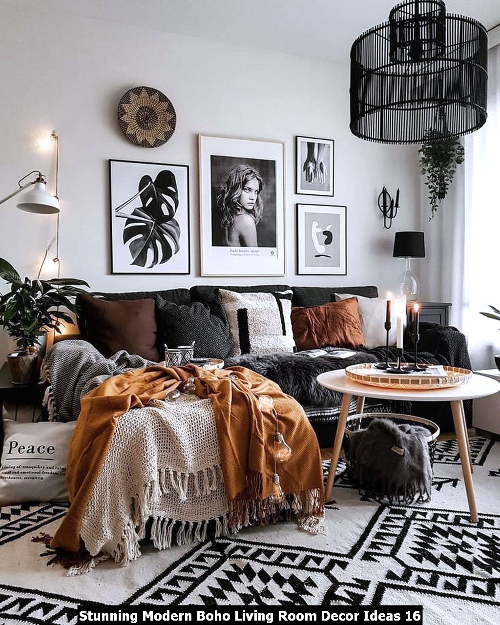 Stunning Modern Boho Living Room Decor Ideas 16