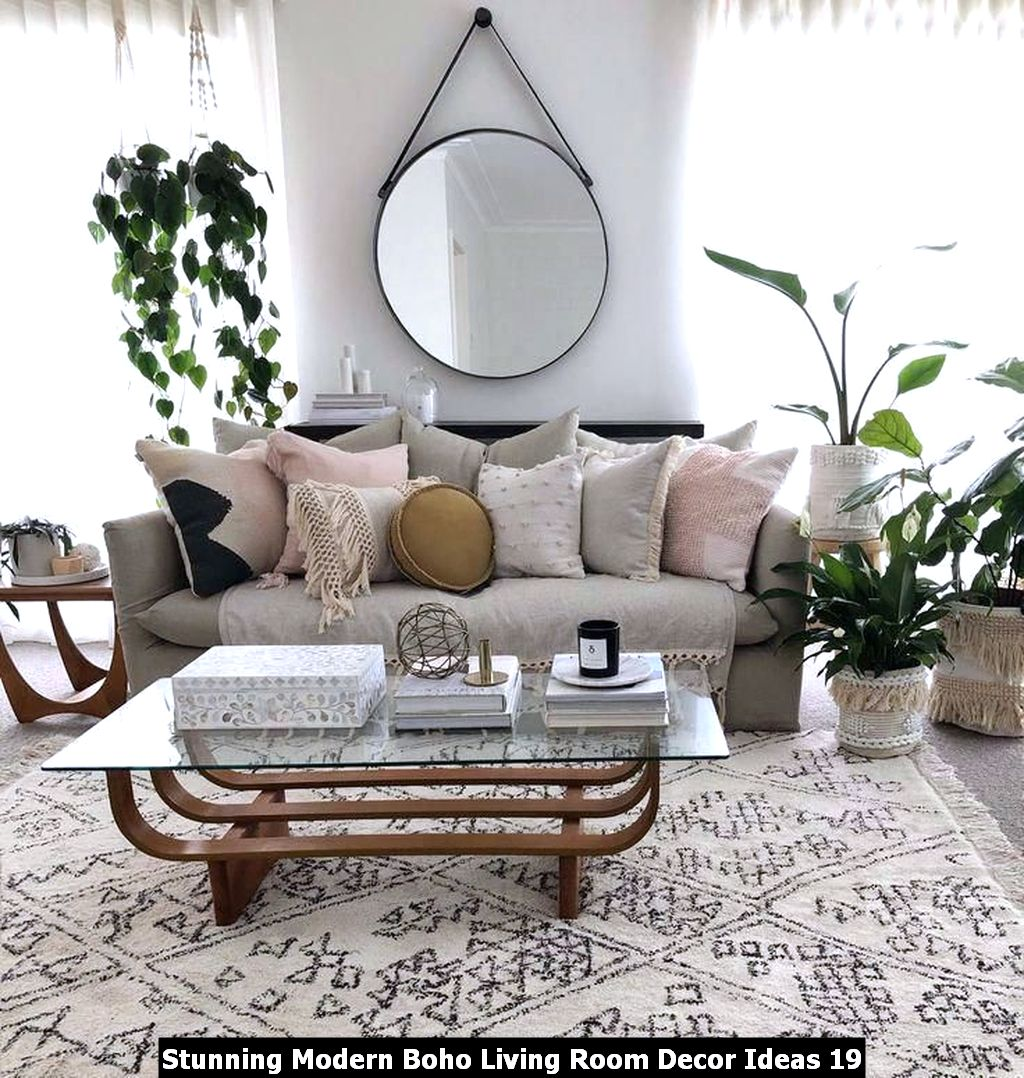 Stunning Modern Boho Living Room Decor Ideas 19