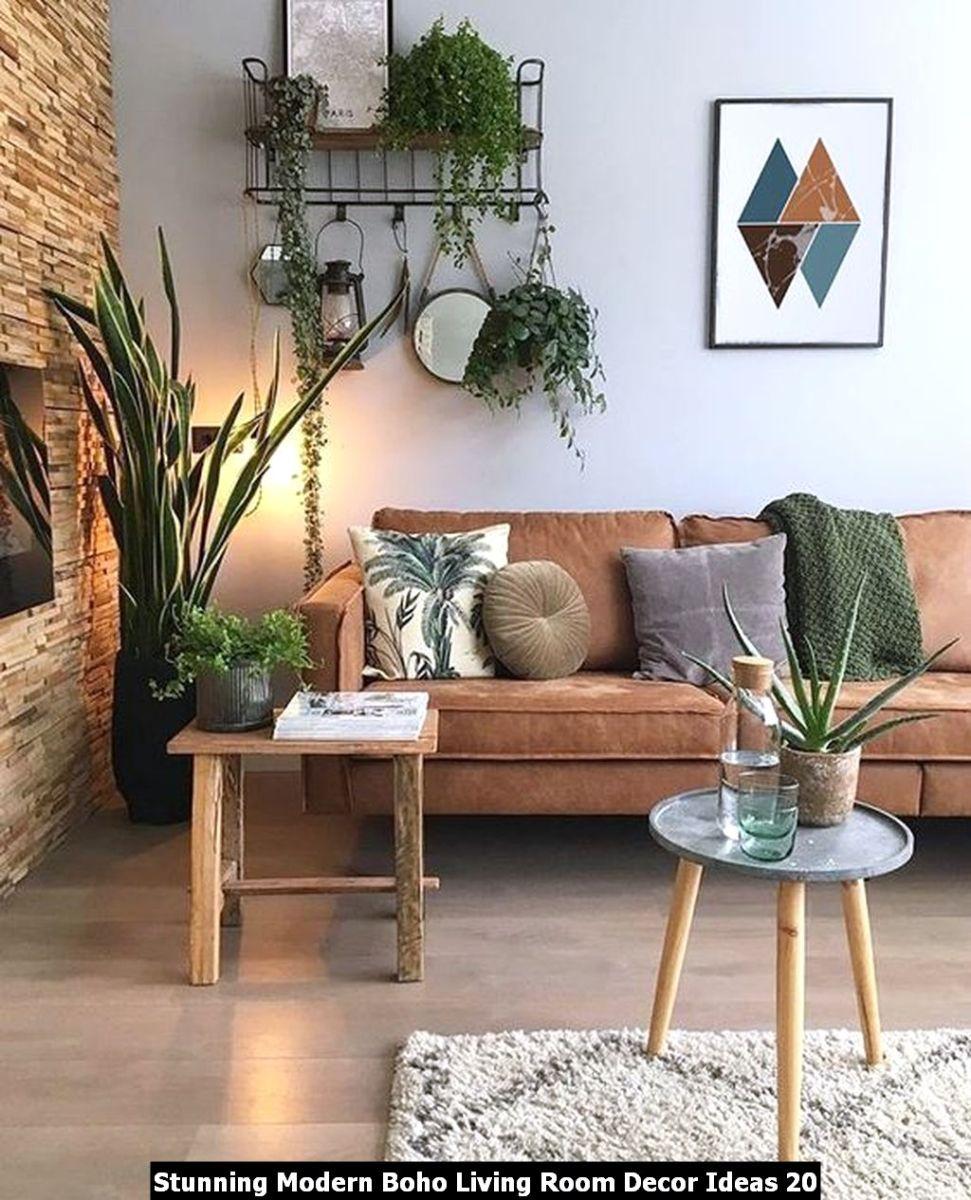 Stunning Modern Boho Living Room Decor Ideas 20