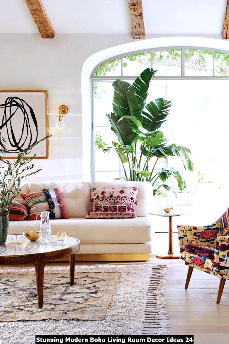 Stunning Modern Boho Living Room Decor Ideas 24