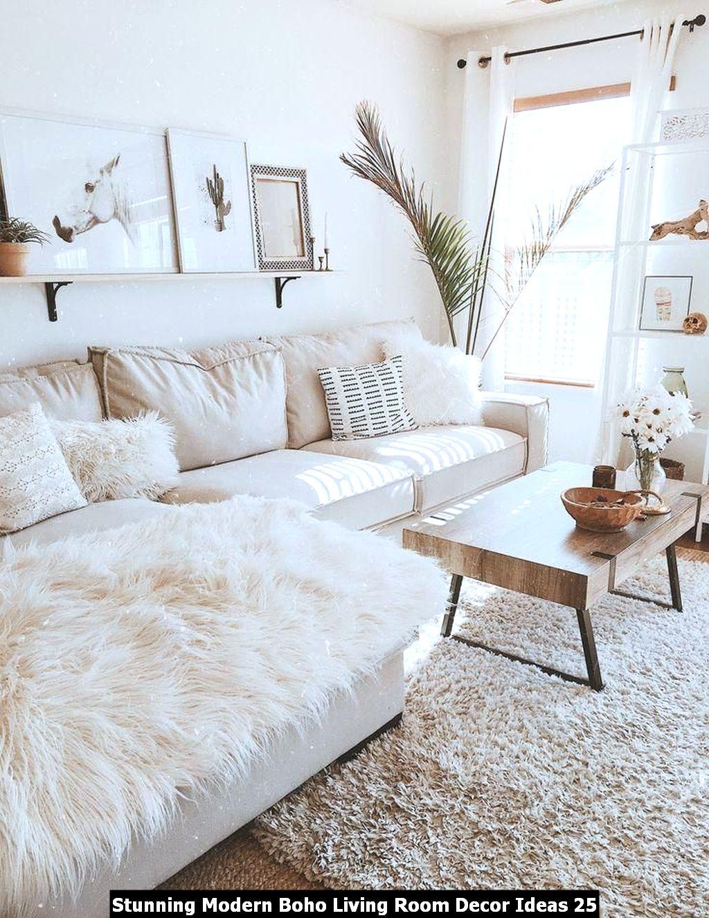 Stunning Modern Boho Living Room Decor Ideas 25
