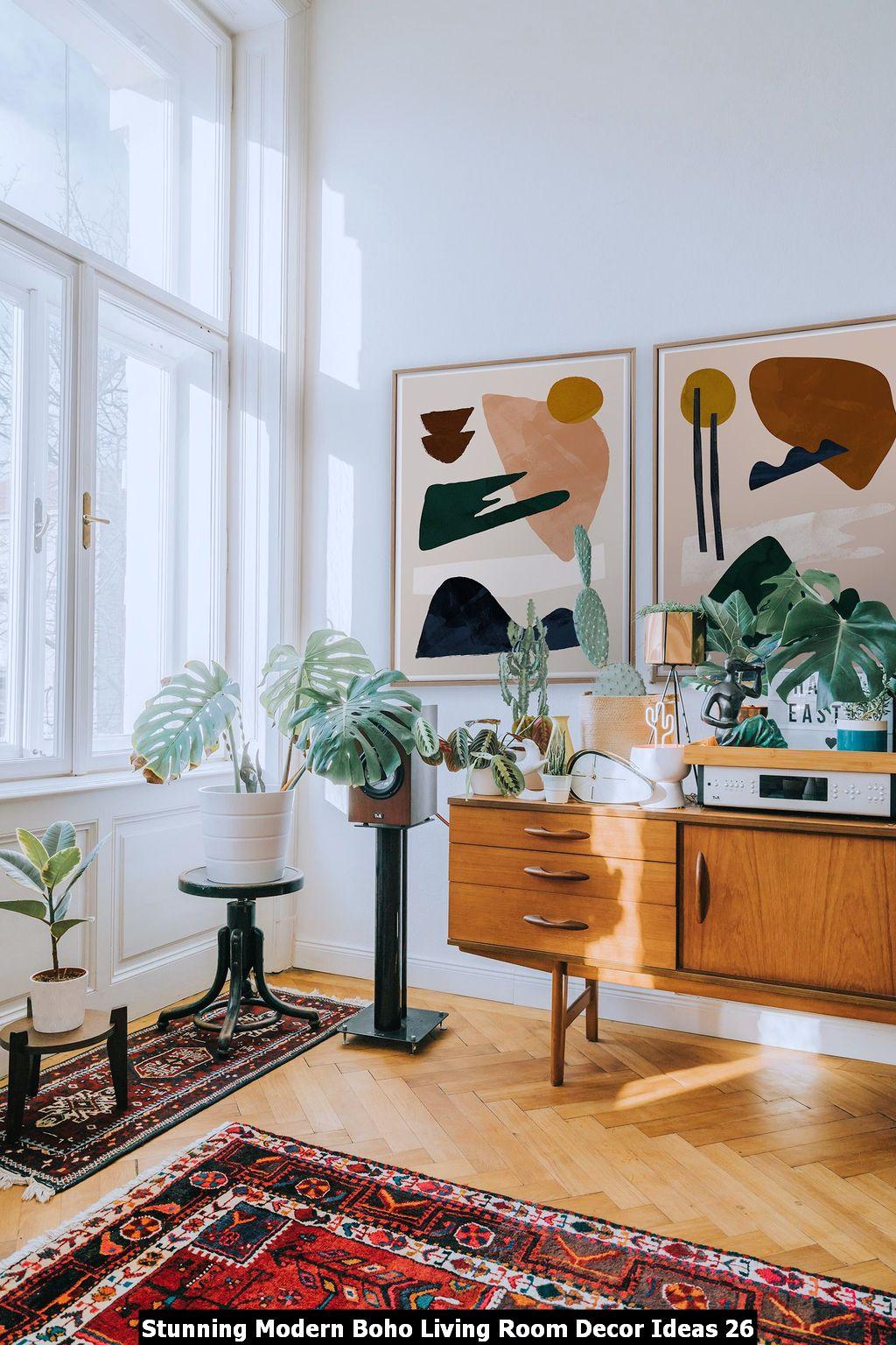 Stunning Modern Boho Living Room Decor Ideas 26