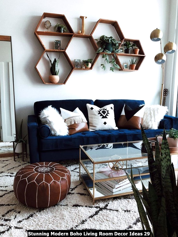 Stunning Modern Boho Living Room Decor Ideas 29