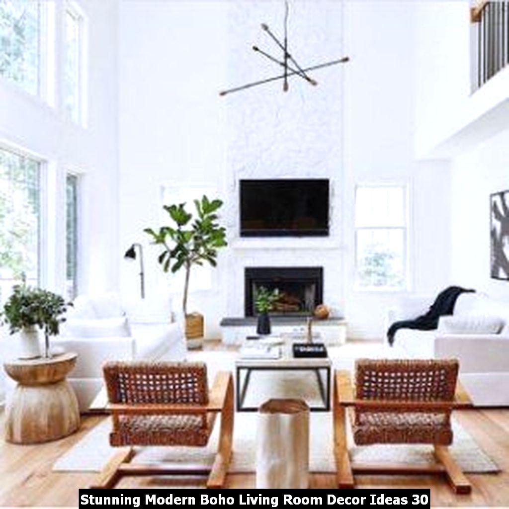 Stunning Modern Boho Living Room Decor Ideas 30