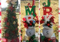 DIY Christmas Grave Decorations
