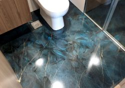 Epoxy Bathroom Floor