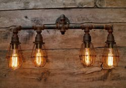 Rustic Bathroom Lighting