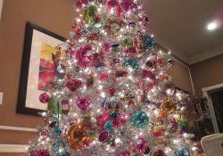 Silver Tinsel Christmas Tree