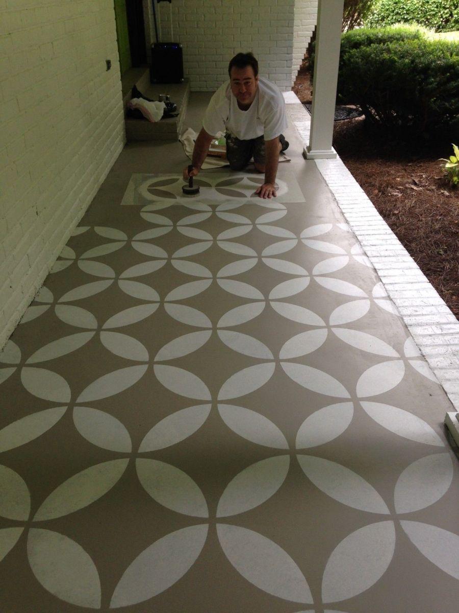 Outdoor Concrete Paint Ideas