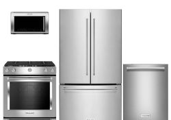 4 Piece Stainless Steel Kitchen Appliance Package