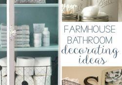 DIY Farmhouse Bathroom Decor