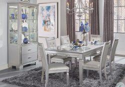 Silver Dining Room Set