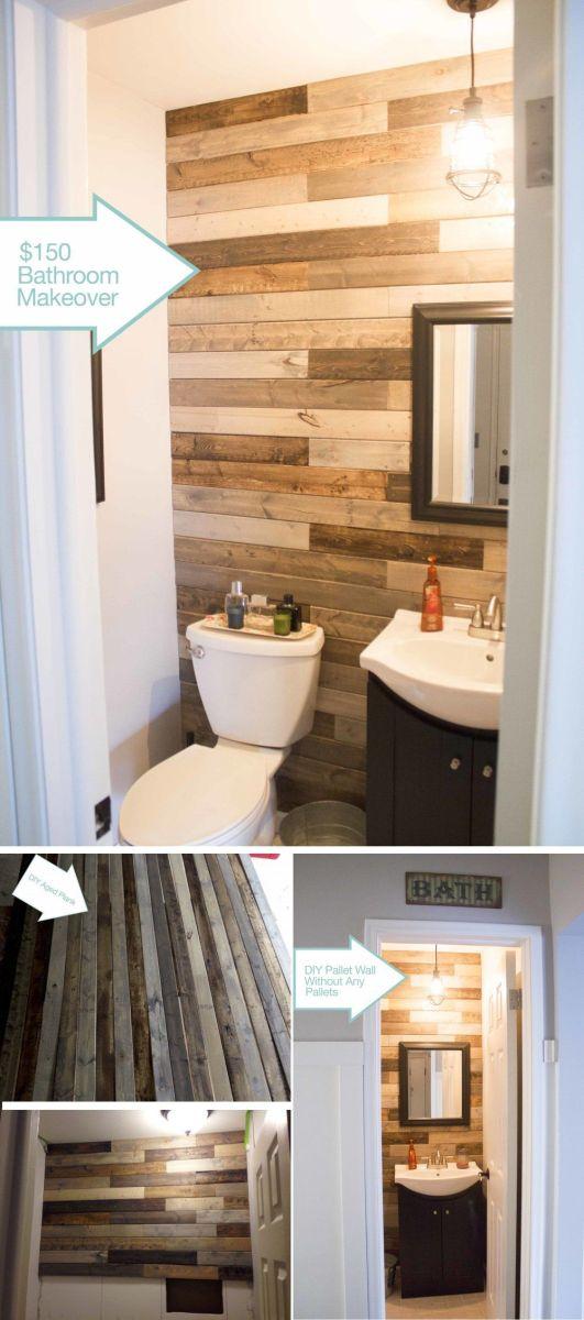 Wood Wall Bathroom