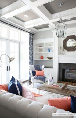Affordable Living Room Summer Decorating Ideas 43