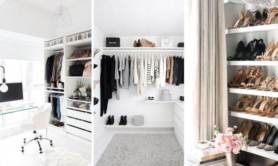 Classy Design Ideas An Organised Open Wardrobe 01