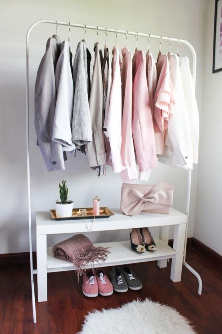 Classy Design Ideas An Organised Open Wardrobe 04
