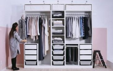Classy Design Ideas An Organised Open Wardrobe 23