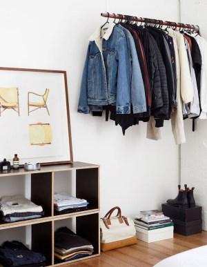 Classy Design Ideas An Organised Open Wardrobe 33