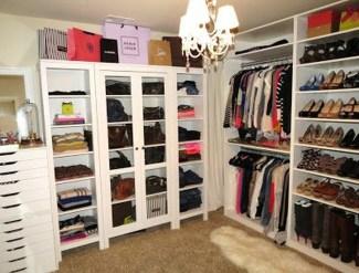 Classy Design Ideas An Organised Open Wardrobe 35