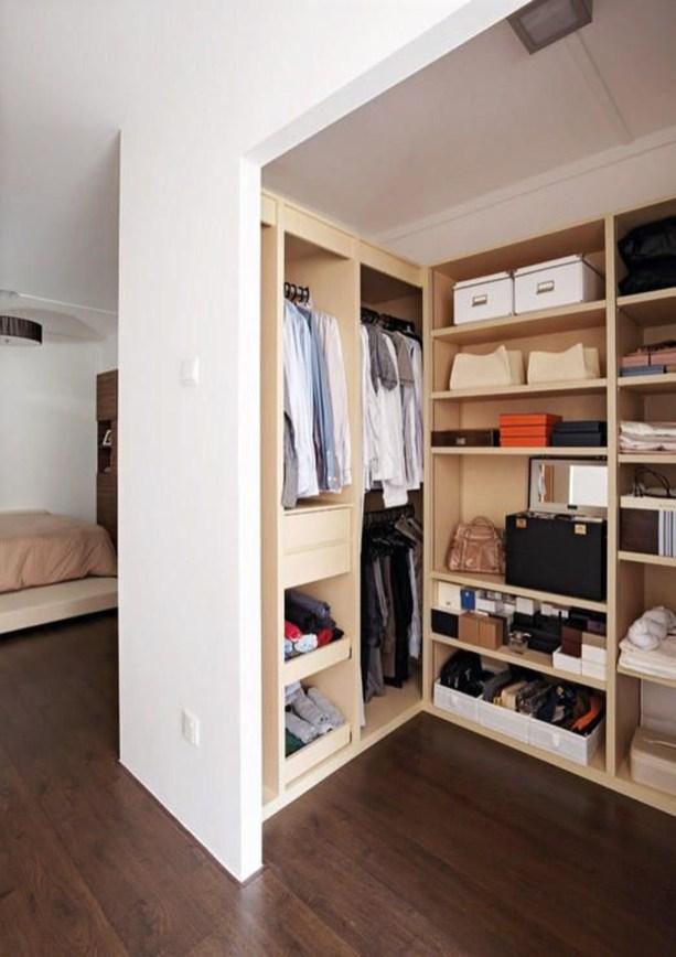 Classy Design Ideas An Organised Open Wardrobe 50