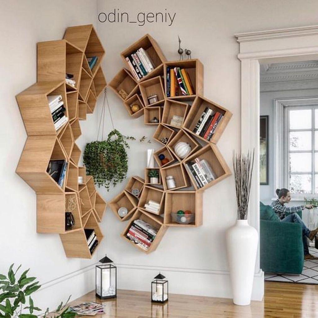 Elegant Bookshelves Decor Ideas That Trending Today 12
