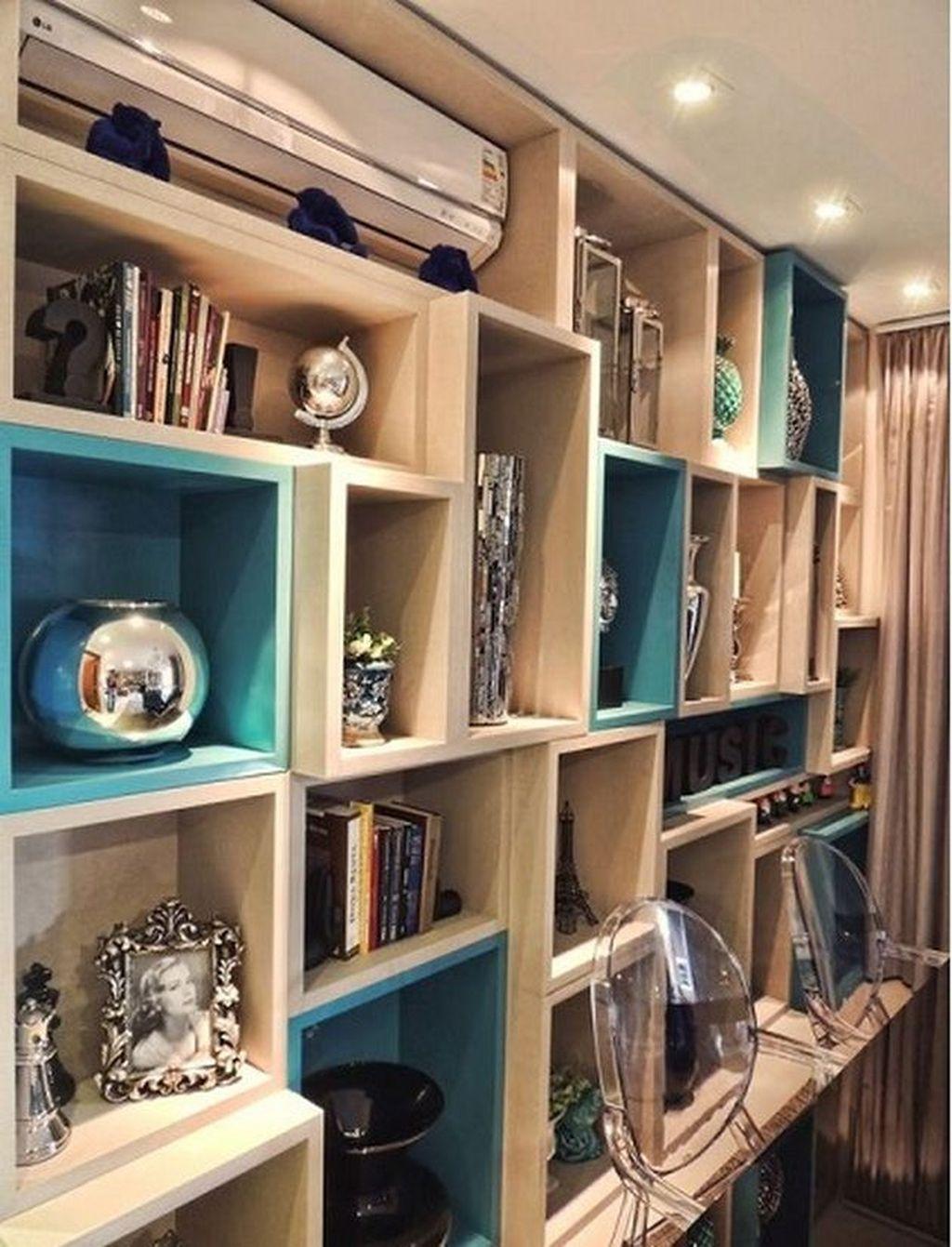 Elegant Bookshelves Decor Ideas That Trending Today 42