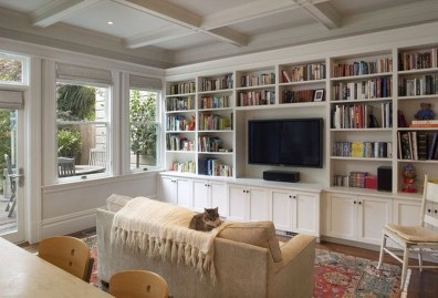 Pretty Bookshelves Design Ideas For Your Family Room 02