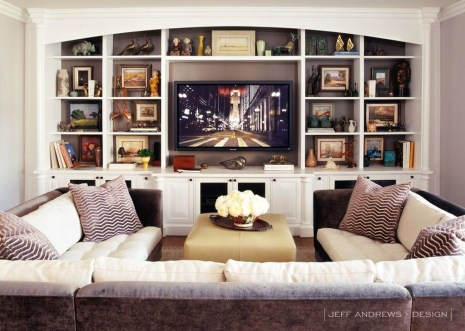 Pretty Bookshelves Design Ideas For Your Family Room 06