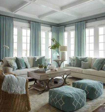 Splendid Coastal Living Area Ideas For Home Look Fabulous 38