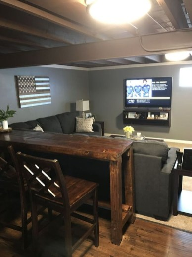 Adorable Basement Remodel Ideas For Upgrading Your Room Design 02