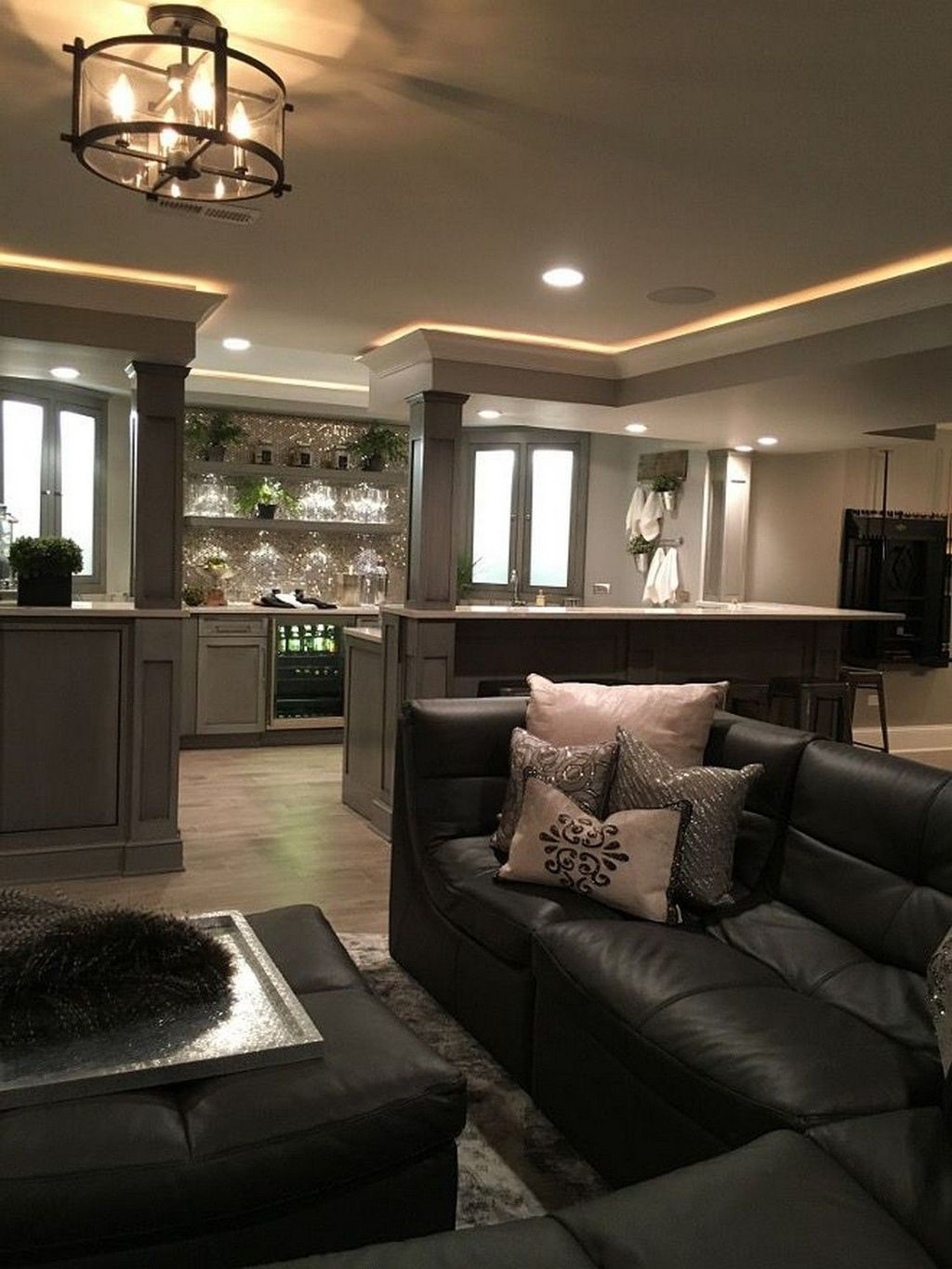 Adorable Basement Remodel Ideas For Upgrading Your Room Design 07