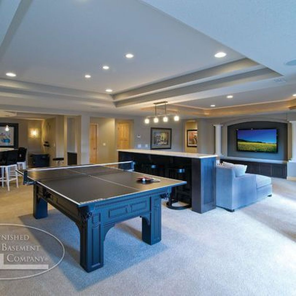 Adorable Basement Remodel Ideas For Upgrading Your Room Design 35