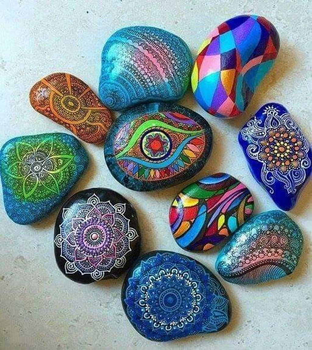 Affordable Diy Painted Rock Ideas For Home Decoration 20