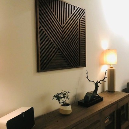 Affordable Geometric Wood Wall Art Design Ideas For Your Inspiration 06
